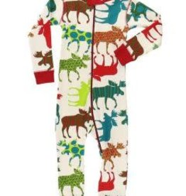 Lazy One Pattern Moose Union Suit
