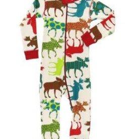 Lazy One Pattern Moose Union Suit