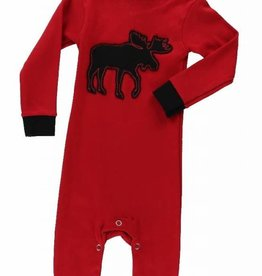 Lazy One Red Classic Moose Union Suit