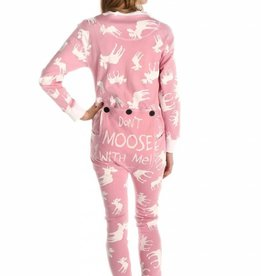 Lazy One Pink Classic Moose Adult Flapjack