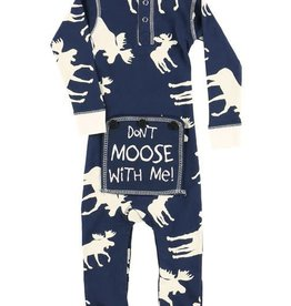 Lazy One Blue Classic Moose Infant Flapjack