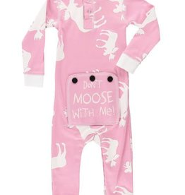 Lazy One Pink Classic Moose Infant Flapjack