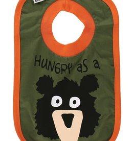 Lazy One Hungry As A Bear Boy (Hunter Green/Orange) Bib