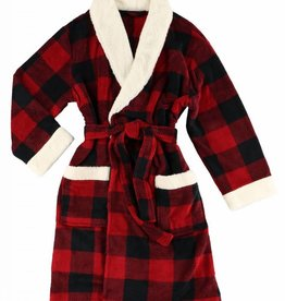 Lazy One Moose Plaid Bath Robe