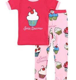 Lazy One Sweet Dreams Cupcake S/S PJ Set