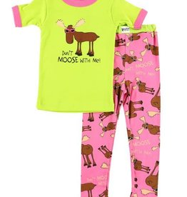 Lazy One Don't Moose With Me S/S PJ Set