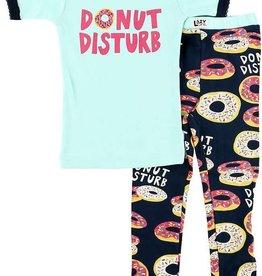 Lazy One Donut Disturb S/S PJ Set