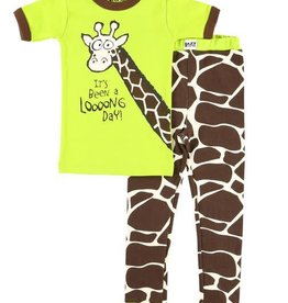 Lazy One Long Day Giraffe S/S PJ Set