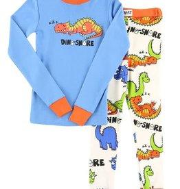 Lazy One Dino-Snore L/S PJ Set