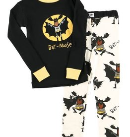 Lazy One Bat Moose L/S PJ Set