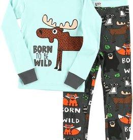 Lazy One Born To Be Wild L/S PJ Set