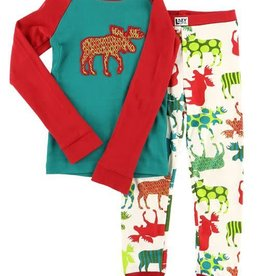 Lazy One Pattern Moose L/S PJ Set