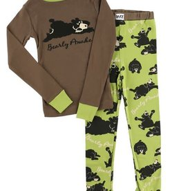 Lazy One Bearly Awake L/S PJ Set