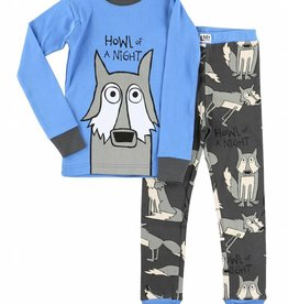 Lazy One Howl Of A Night L/S PJ Set