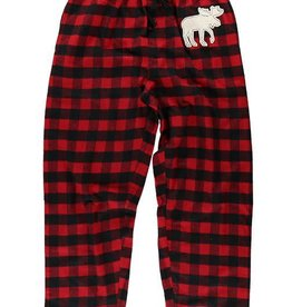 Lazy One Moose Plaid (Red) Unisex Flannel PJ Pant