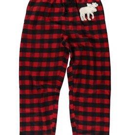 Lazy One Moose Plaid (Red) Unisex Flannel PJ Pant