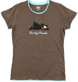 Lazy One Bearly Awake Fitted PJ Tee