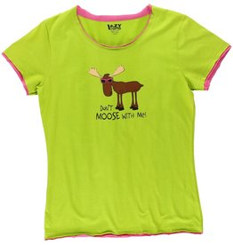 Lazy One Don't Moose With Me Fitted PJ Tee