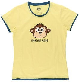 Lazy One Monkeying Around Fitted PJ Tee