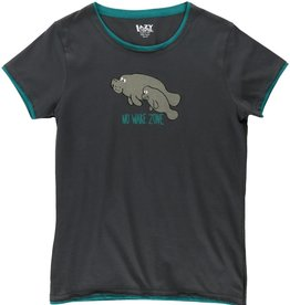 Lazy One Manatee Fitted PJ Tee