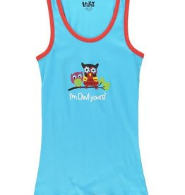 Lazy One I'm Owl Yours Fitted PJ Tank Top