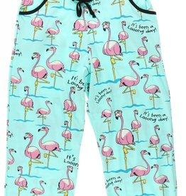 Lazy One Long Day (Flamingo) Capri PJ Pant