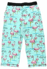 Lazy One Long Day (Flamingo) Capri PJ Pant