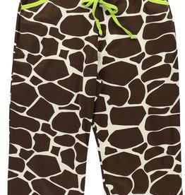 Lazy One Long Day (Giraffe) Capri PJ Pant