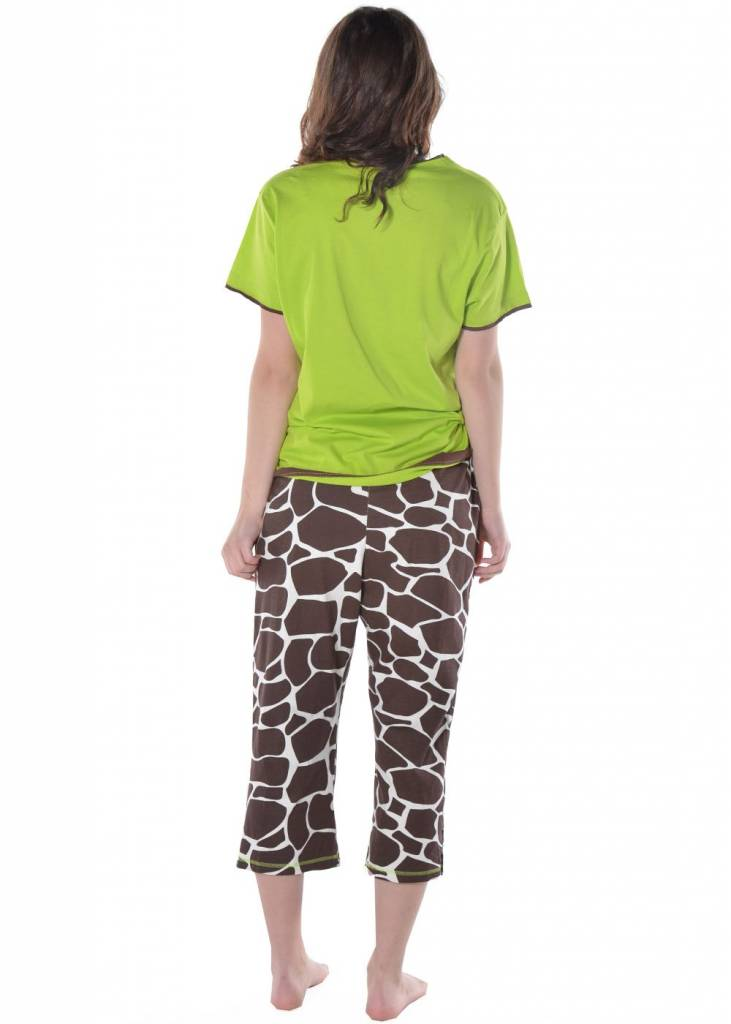 Lazy One Long Day (Giraffe) Capri PJ Pant