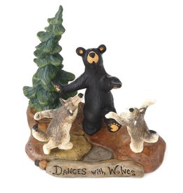 Dances With Wolves Bear/Wolves Figurine