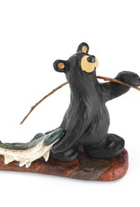 Norman's Big Fish Bear Figurine