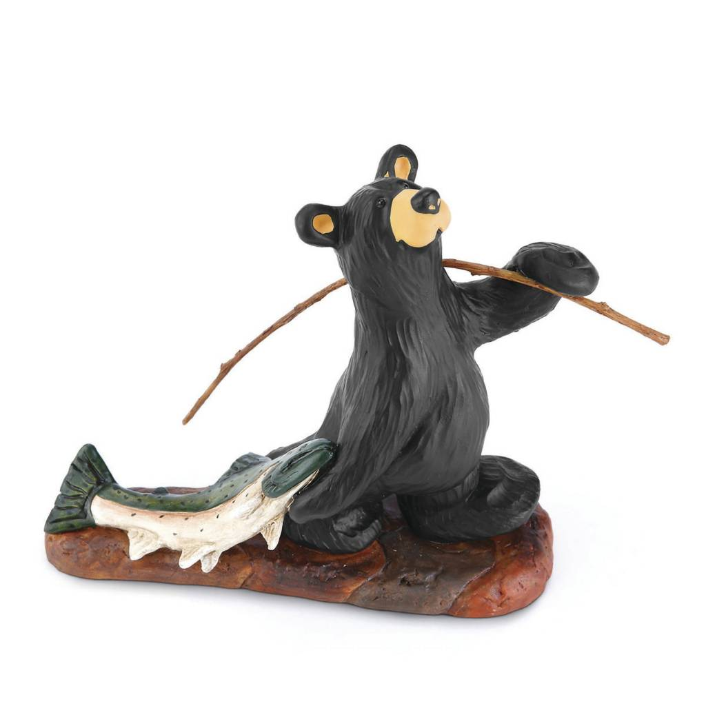Norman's Big Fish Bear Figurine