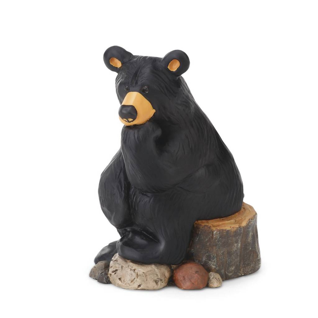 Thinker Bear Figurine