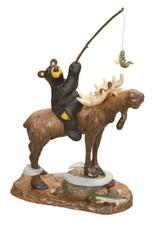 Who Needs Waders Bear/Moose Fishing Figurine