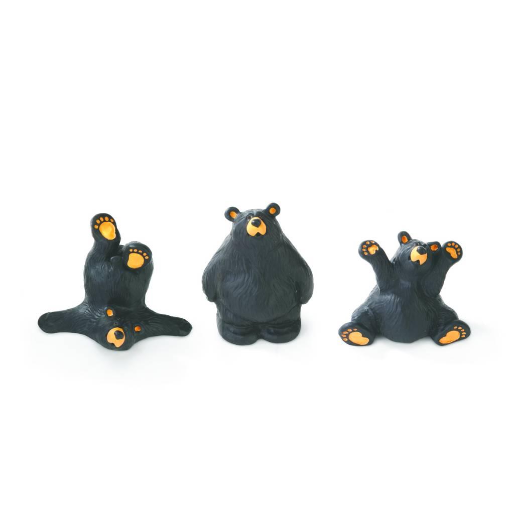 3 Fun Bears Figurines