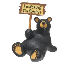 """I'm Fluffy"" Bear Figurine"