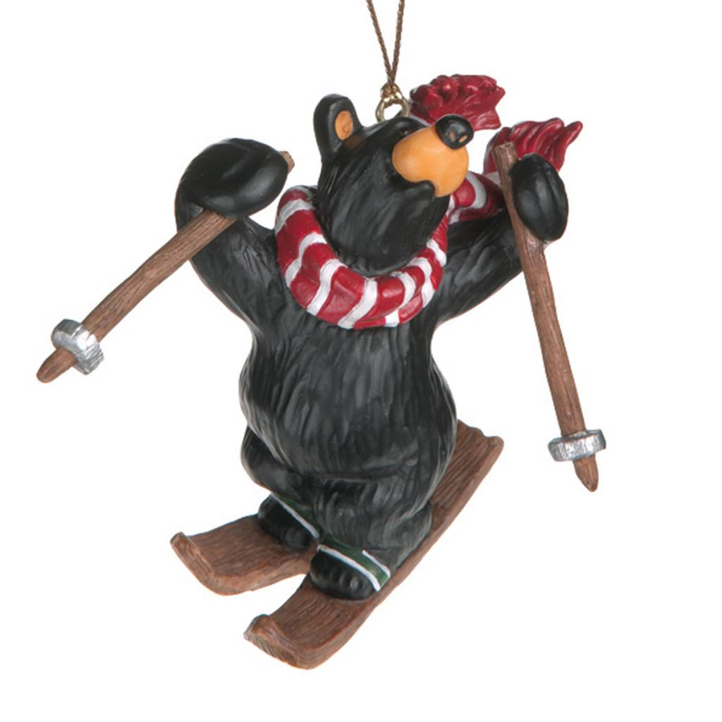 Bear Freestyle Skier Ornament