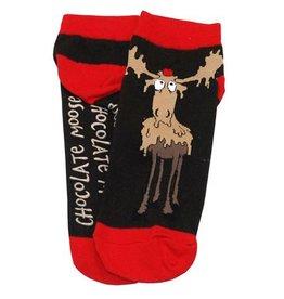 Lazy One Chocolate Moose Slipper Socks 9-11
