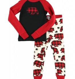Allover Bear Check L/S PJ Set