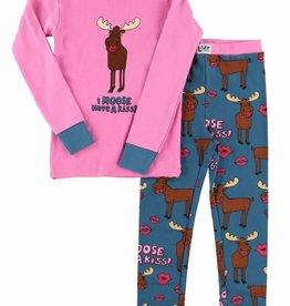 Lazy One I Moose Have A Kiss L/S PJ Set