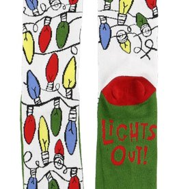 Lazy One Lights Out Crew Sock 9-11