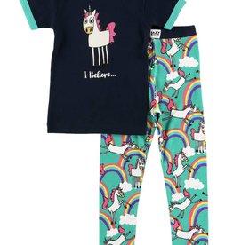 Lazy One I Believe Unicorn S/S PJ Set