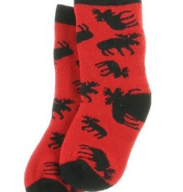 Lazy One Classic Red Moose Infant Sock