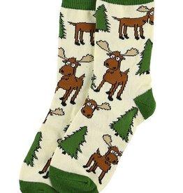 Lazy One Moose Hug Kid Sock