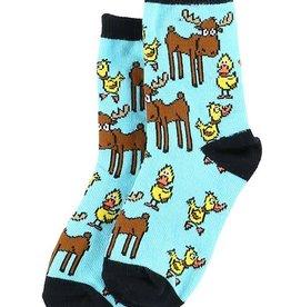Lazy One Duck Duck Moose Kid Sock
