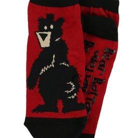 Lazy One Bear Bottom Slipper Socks 9-11