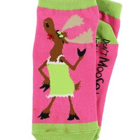 Lazy One Don't Moose With Me Slipper Socks 9-11