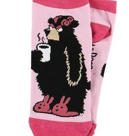 Lazy One I'm A Bear In The Morning Slipper Socks 9-11