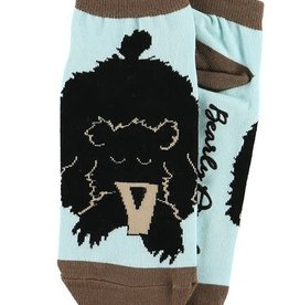Lazy One Bearly Awake Slipper Socks 9-11
