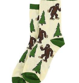 Lazy One I Believe Bigfoot Crew Socks 10-13